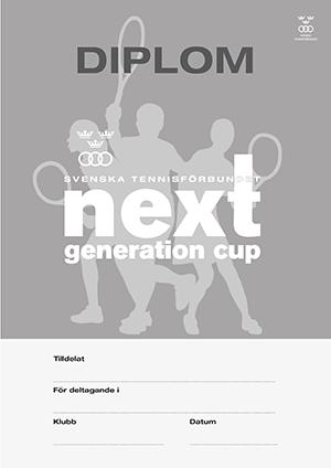 SvTF Next Generation Cup-diplom (Svartvitt)